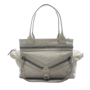BOTKIER GREY LEATHER SATCHEL NEW WITH TAGS